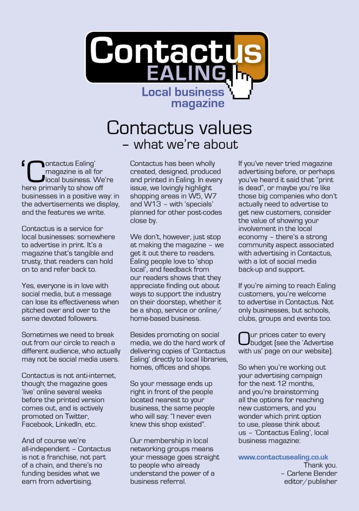 Contactus values