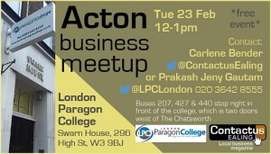 Acton Business Meetup 23 Feb