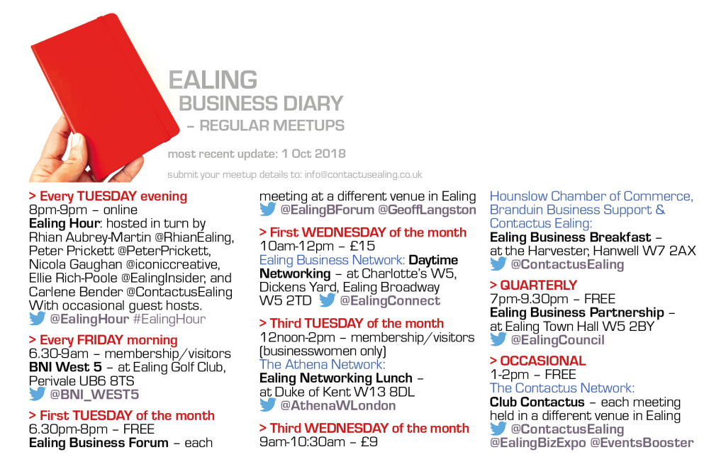 Ealing Business Diary - 1Oct2018